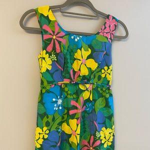 Vintage Hawaïenne Maxi Dress Sleeveless Size XS